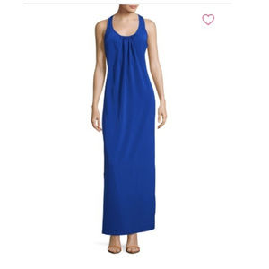 Amanda Uprichard blue racerback maxi dress S
